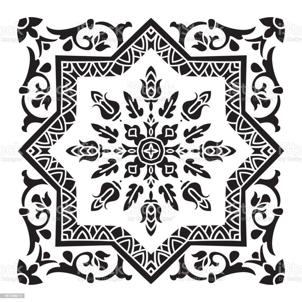Mano disegno piastrelle decorative all over maiolica stile italiano immagini vettoriali stock - Piastrelle decorative ...