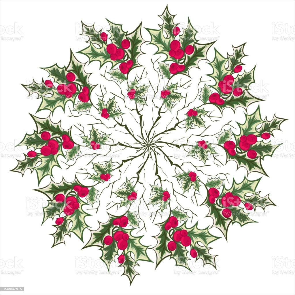 Mano Disegno Floreale Agrifoglio Mandala Element Immagini