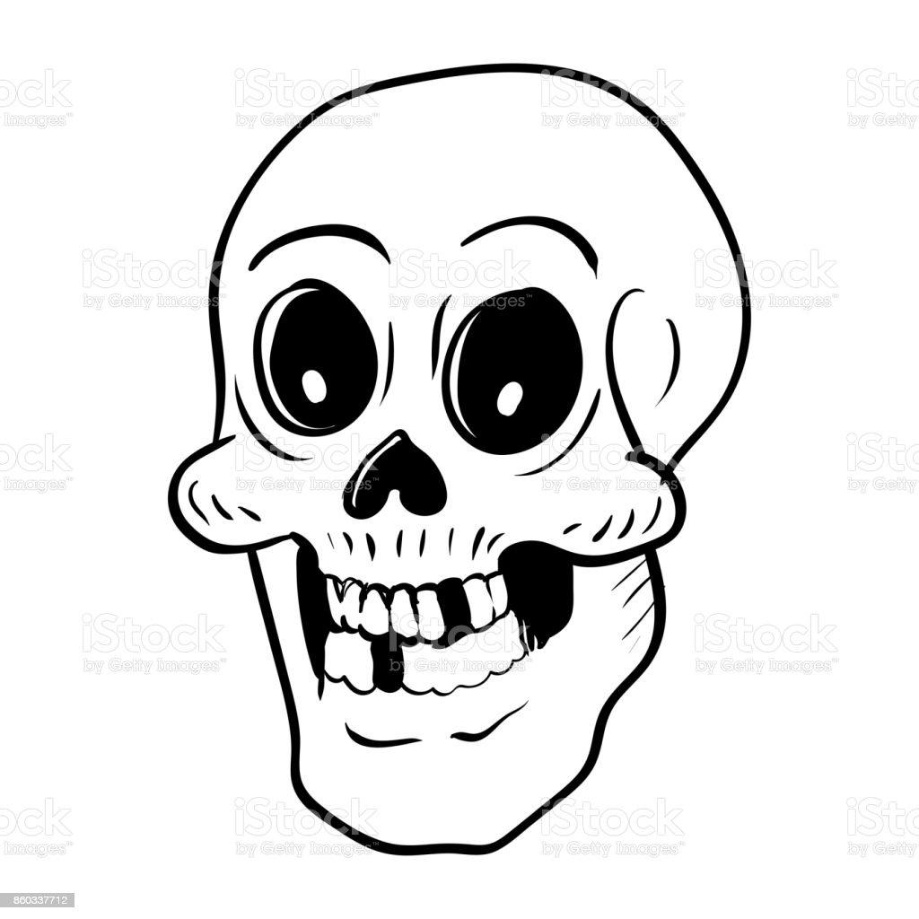 Vetores De Cabeca De Caveira Halloween Desenho Mao Dos Desenhos