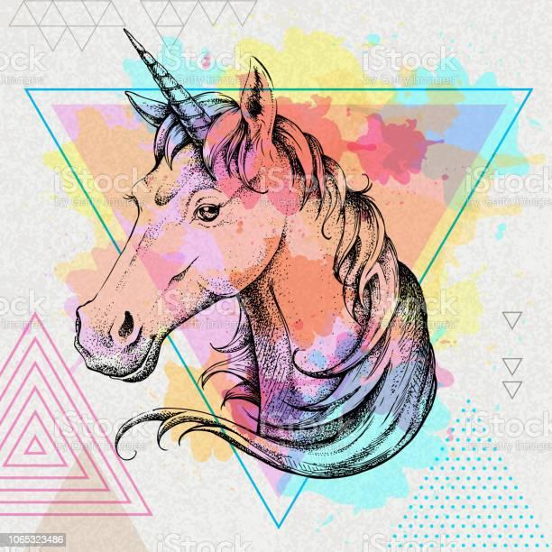 Hand drawing hipster fantasy animal unicorn on artistic polygon vector id1065323486?b=1&k=6&m=1065323486&s=612x612&h= y4d5jhcqsmrf2k3ndkkbuefjoqk1plsahn1kv4icva=