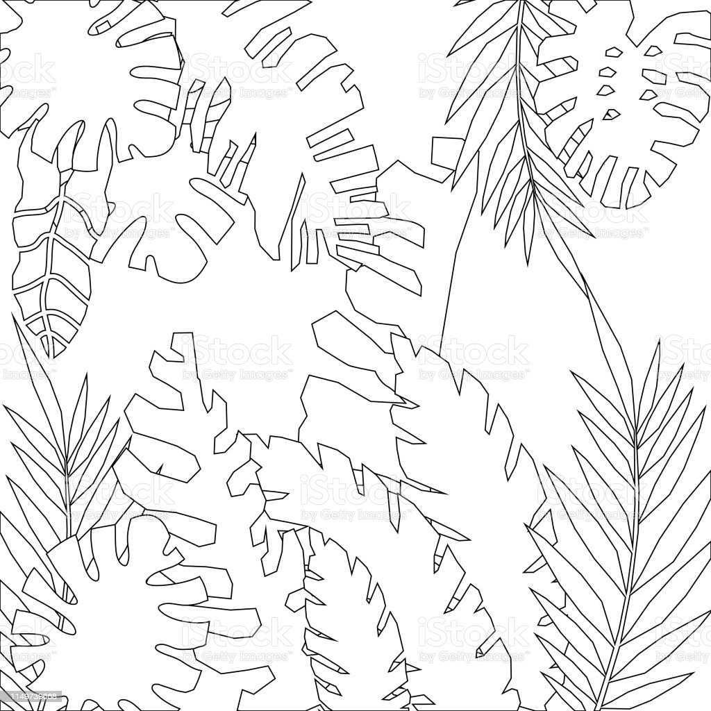 ccbc-events: Jungle Leaves Coloring Pages