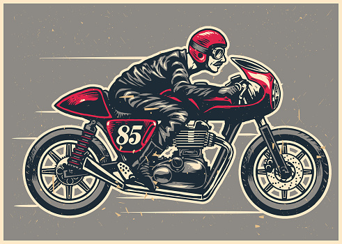 Motorcycle stock illustrations