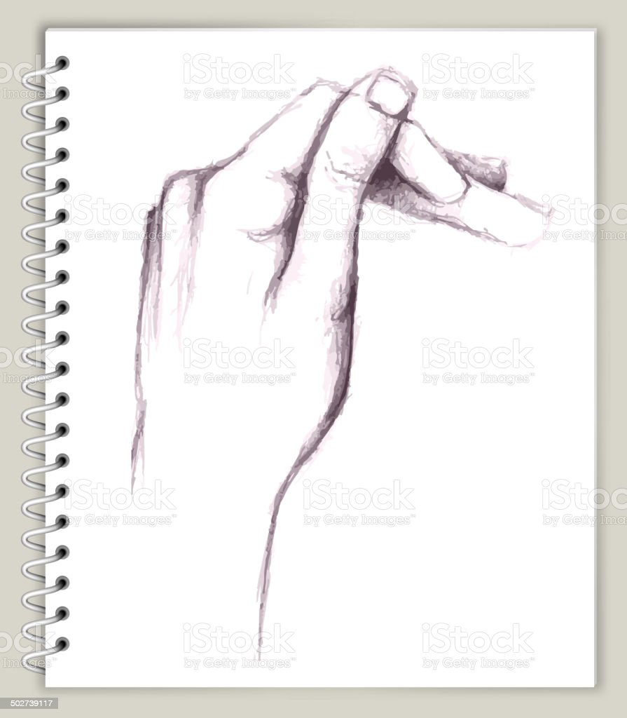 Hand Drawing on Art Sketcbook royalty free vector art royalty-free stock vector art
