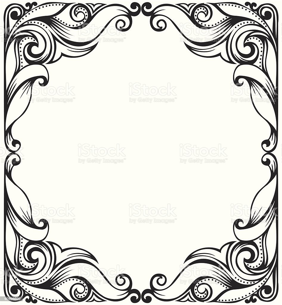 Hand drawing ornament royalty-free stock vector art