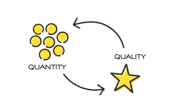 1,817 Quality Vs Quantity Illustrations & Clip Art - iStock