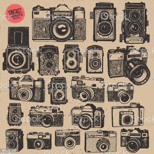 Hand drawing retro an vintage photo cameras in isolated vector big vector id841237450?b=1&k=6&m=841237450&s=612x612&h=ynugqylnvmuee0 xa8vsg5bybcjjzjdow9ppza  gz8=