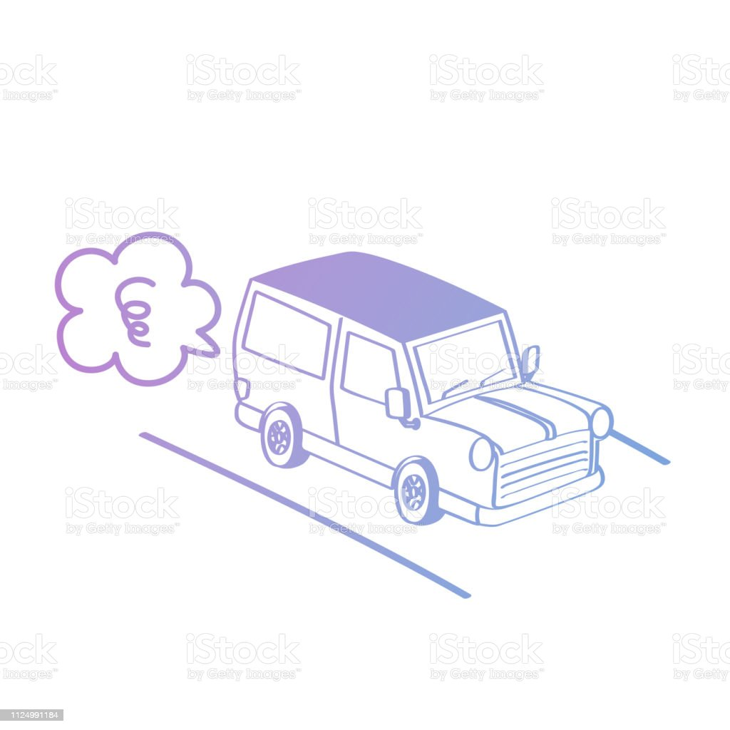 Hand drawing styles with car. Pastel doodle car.