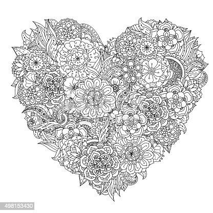 Mano Disegnare Elemento Zentangle Bianco E Nero Mandala
