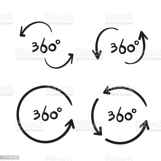 Hand drawn 360 degree view related vector icons design template vector id1201567592?b=1&k=6&m=1201567592&s=612x612&h=lzexus8x6c1nkzkqynieqrr2gvfd0xx1lfe2mz ucxe=