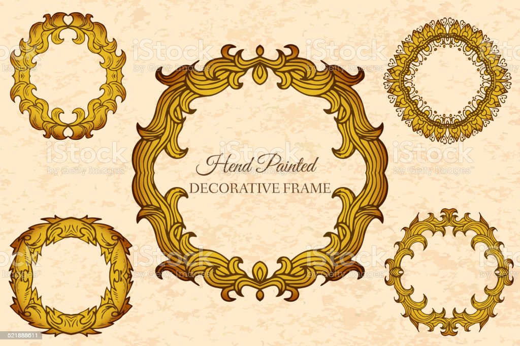 Hand Drawn Abstract Background Frame Vintage Traditional Indian ...