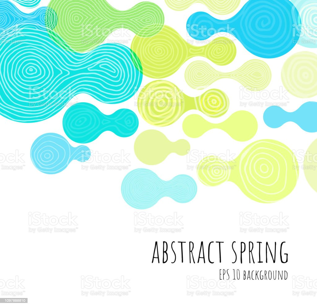 Hand Drawn Abstract Background vector art illustration