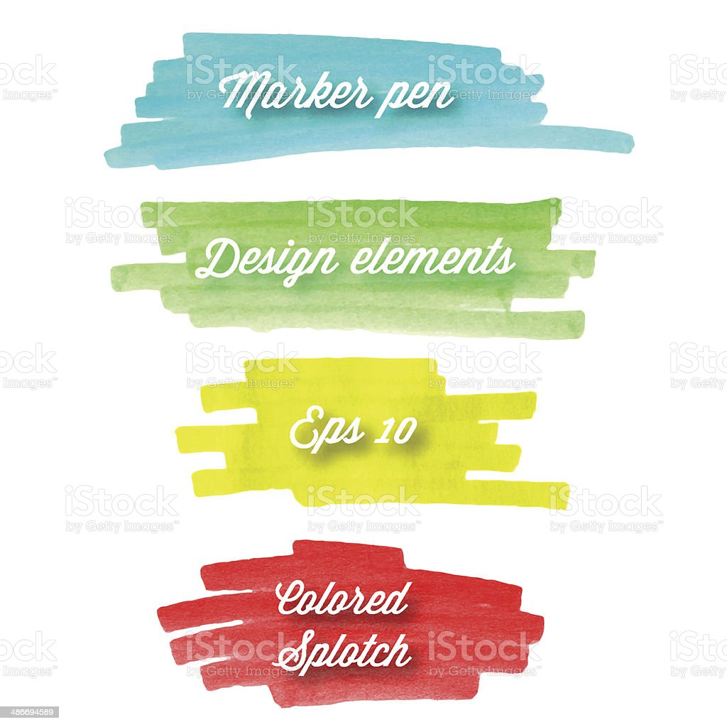 Hand drawn abstract colorful banner stripes. royalty-free stock vector art