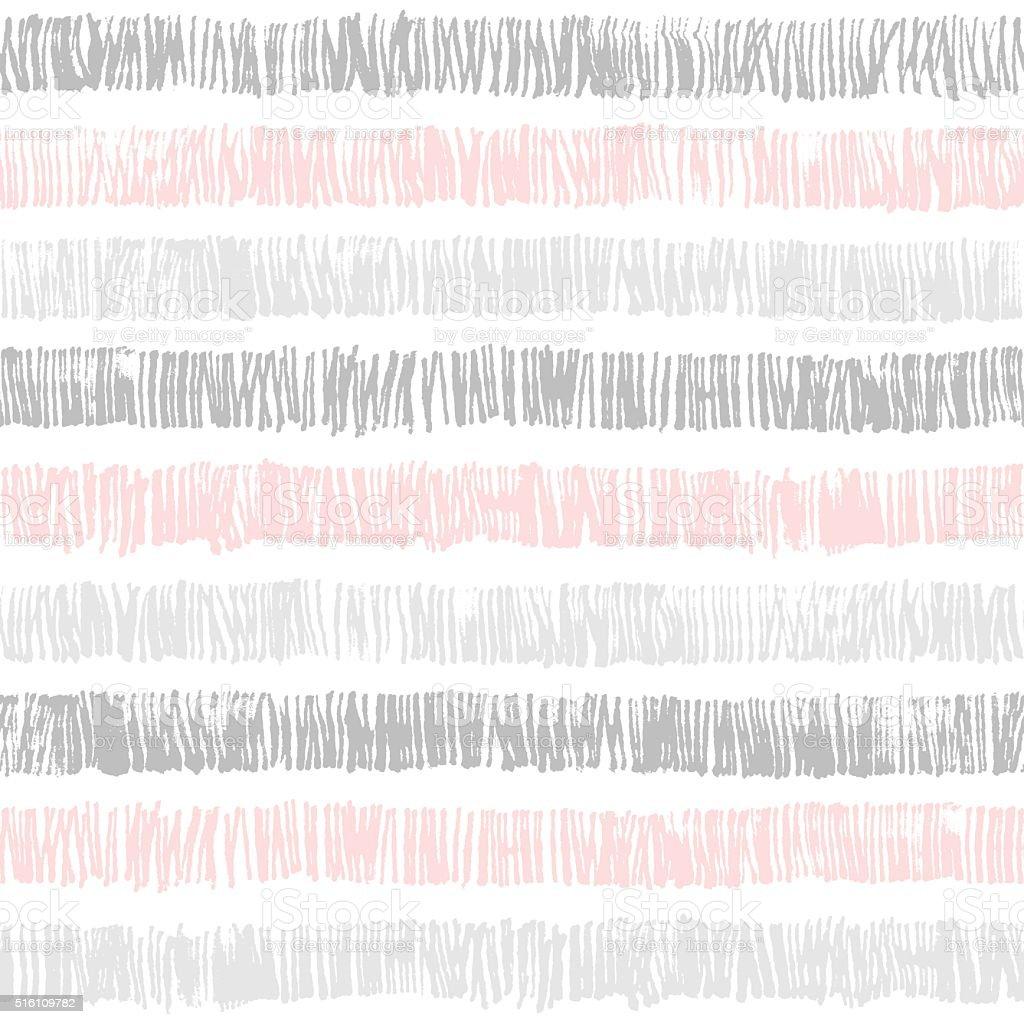 Hand Drawn Abstract Seamless Pattern vector art illustration