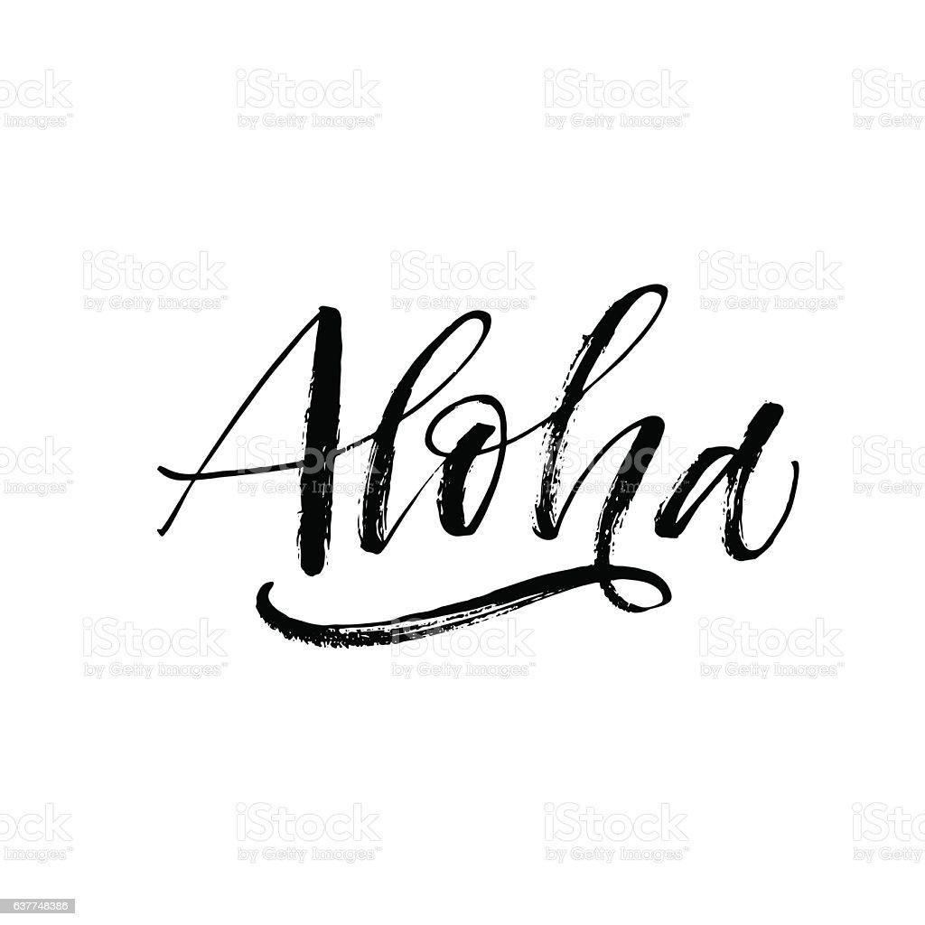 royalty free aloha clip art vector images illustrations istock rh istockphoto com aloha clipart black and white aloha clip art free