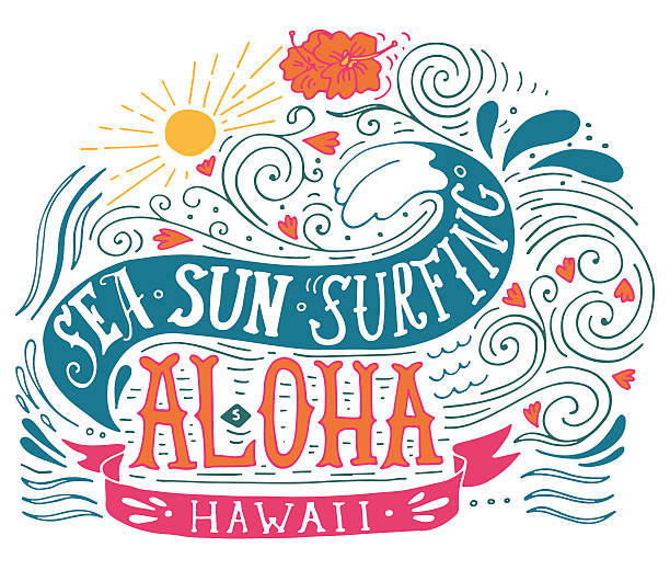 Best Aloha Single Word Illustrations, Royalty-Free Vector
