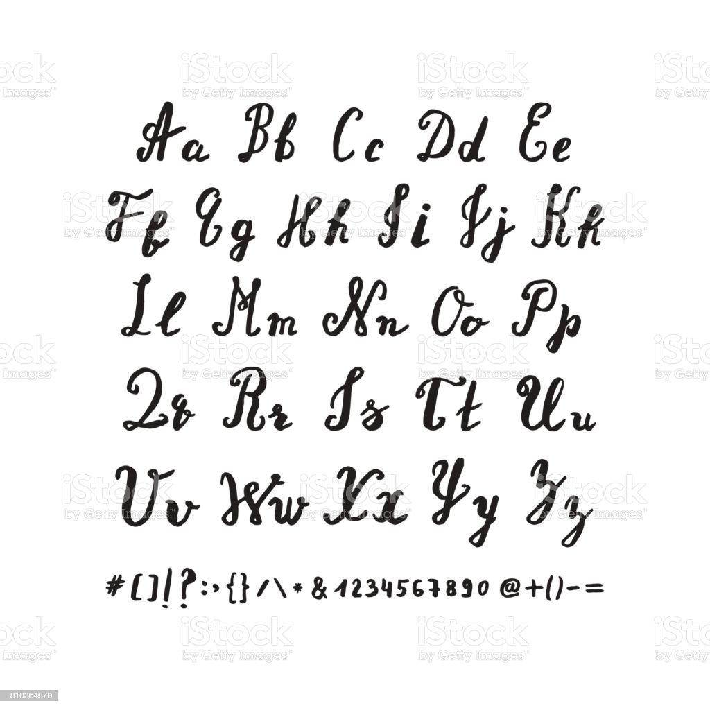 Hand drawn alphabet. – Vektorgrafik