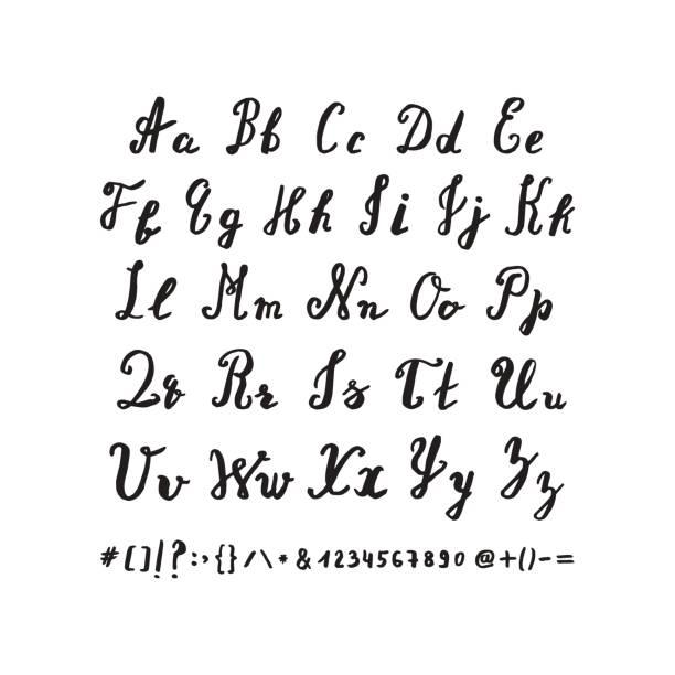Alfabeto dibujados a mano. - ilustración de arte vectorial