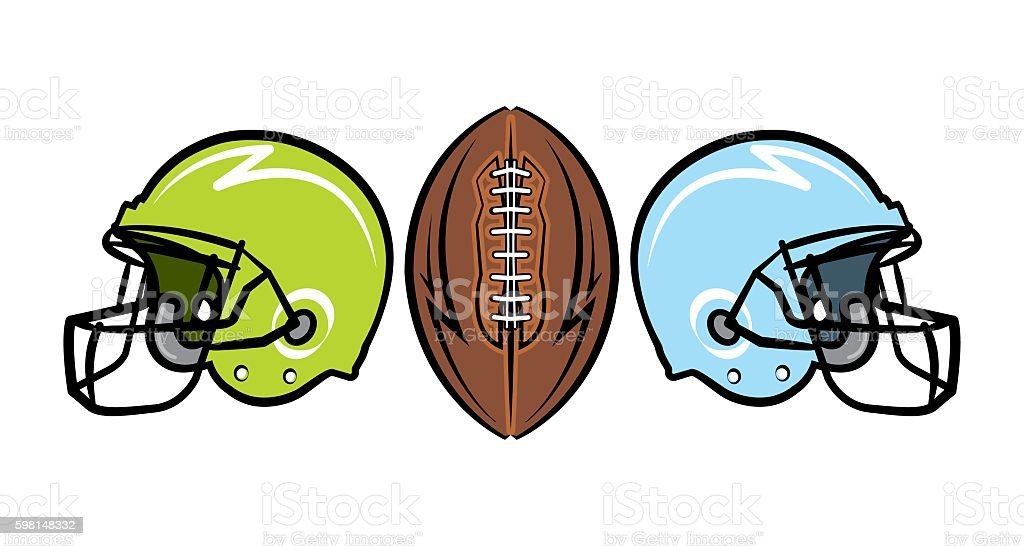 Hand Drawn American Football Illustration vector art illustration