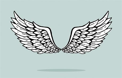 Angel tattoo stock illustrations