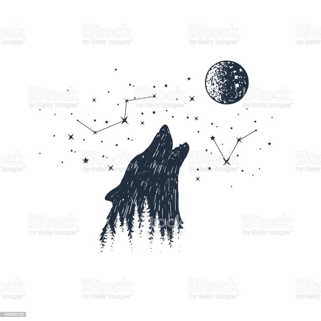 Main animaux dessiné et illustrations vectorielles constellation. main animaux dessiné et illustrations vectorielles constellation vecteurs libres de droits et plus d'images vectorielles de blanc libre de droits