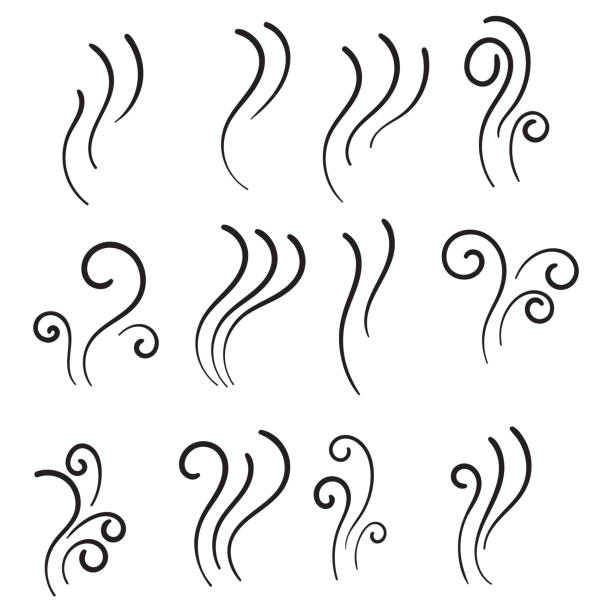 hand drawn Aromas vaporize icons. Smells vector line icon set, hot aroma, stink or cooking steam symbols, smelling or vapor, smoking or odors signs hand drawn Aromas vaporize icons. Smells vector line icon set, hot aroma, stink or cooking steam symbols, smelling or vapor, smoking or odors signs scented stock illustrations