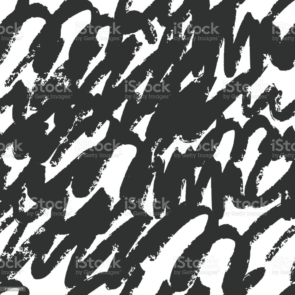 Hand Drawn Artistic Brush Strokes Seamless Pattern Graffiti