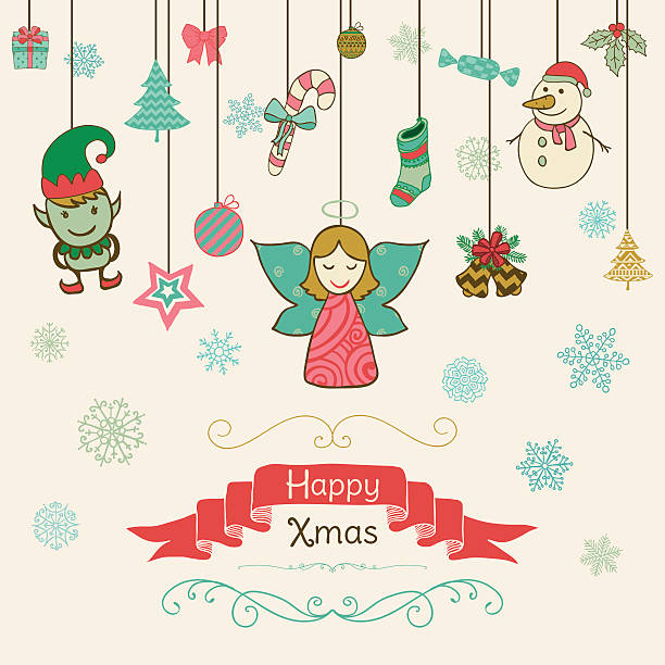 Hand drawn artistic christmas doodle invitation card stock vector hand drawn artistic christmas doodle invitation card stock vector art 497422308 istock stopboris Image collections