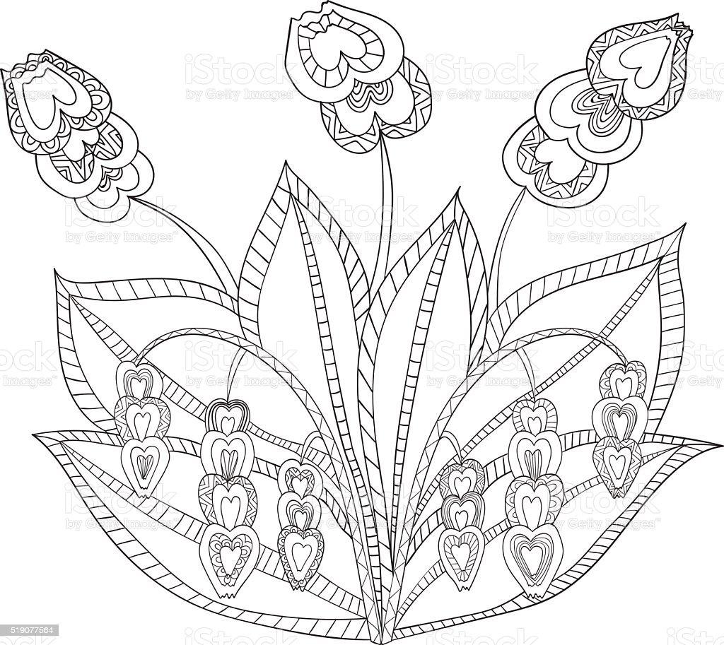 Étnica Dibujado A Mano Con Estampados De Flores Decorativas Obras De ...
