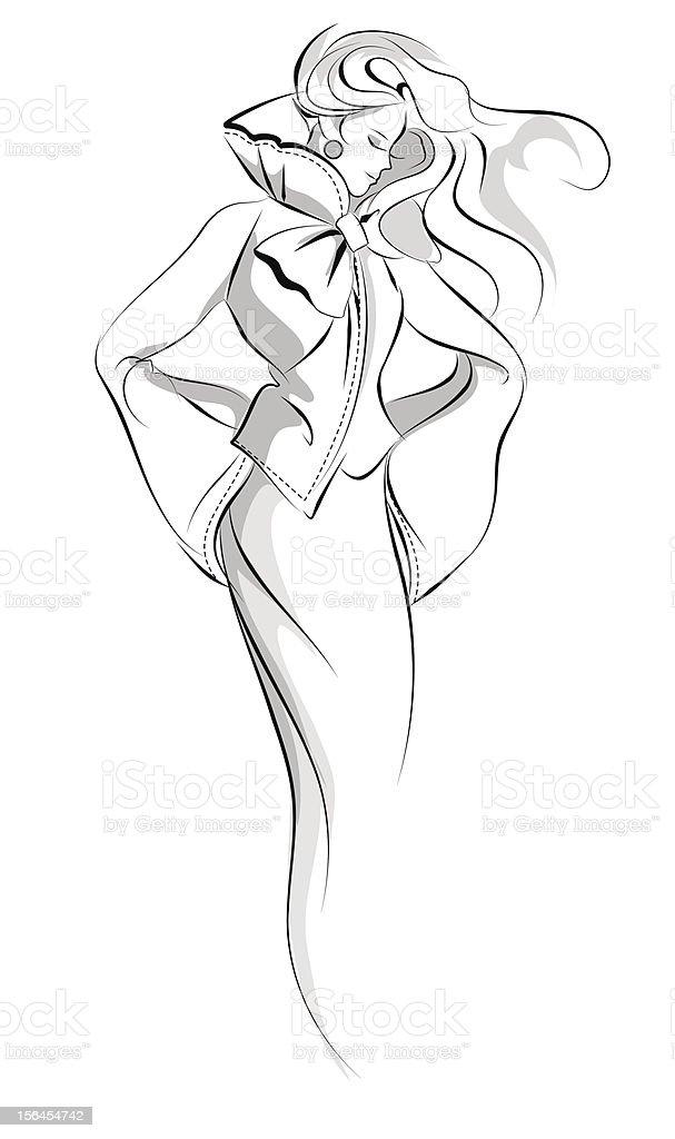 Hand drawn artistic fashion illustration vector art illustration