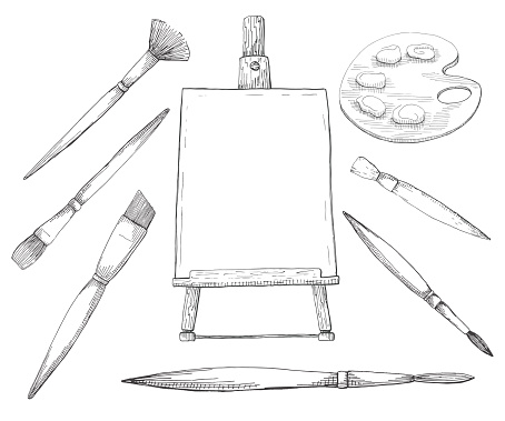 Hand drawn artwork. Vector illustration of a sketch style.