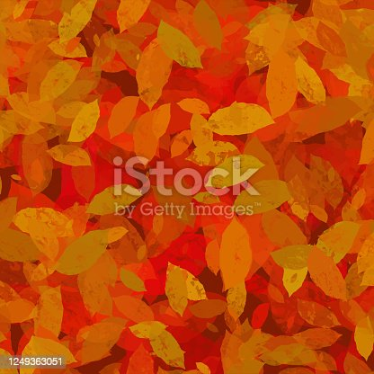 istock Hand Drawn Autumn Leaves Background. Floral Frame Isolated Background. Geometric Frame Invitation Card Template with Autumn Leaves. Vector Floral Border Design Element for Birthday, Thanksgiving Card, Wedding Invitation. 1249363051