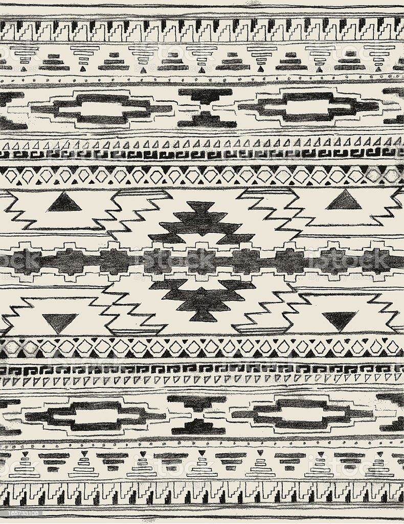 hand drawn Azteken-Muster – Vektorgrafik