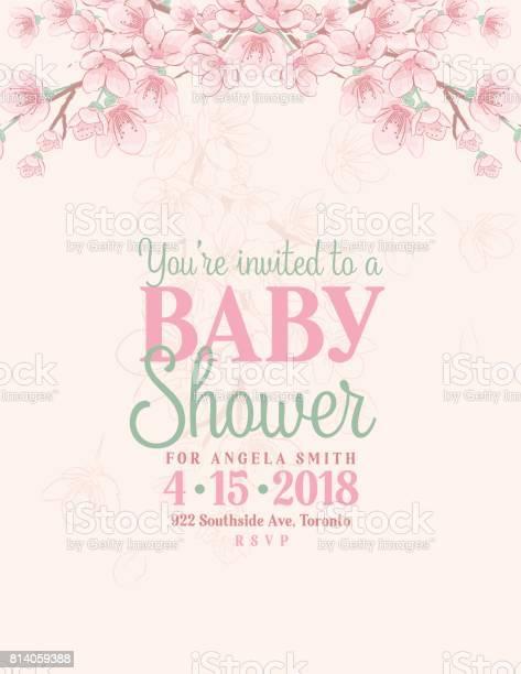 Hand drawn baby shower invitation with cherry blossom vector id814059388?b=1&k=6&m=814059388&s=612x612&h=kkfh167rb4yd87grboldhwpwdwxhv1kadmjtwzwfzds=