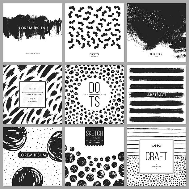 hand drawn backgrounds - black and white stock illustrations, clip art, cartoons, & icons