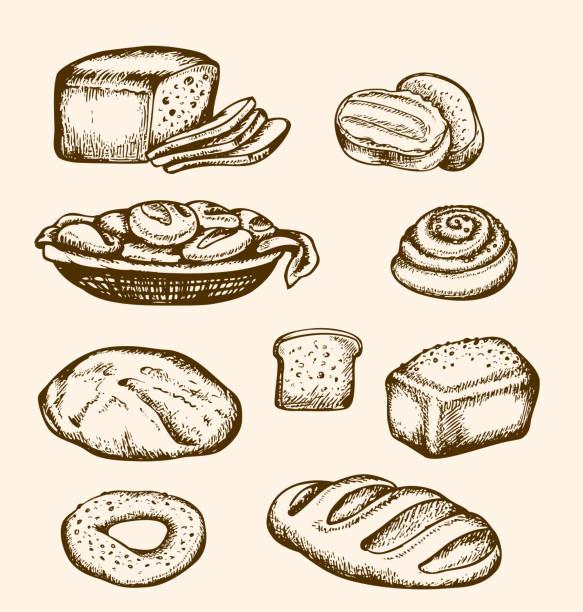 手描きのベーカリー - 食パン点のイラスト素材/クリップアート素材/マンガ素材/アイコン素材