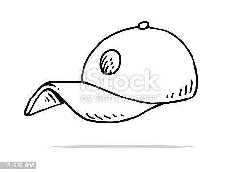 Hand drawn baseball cap