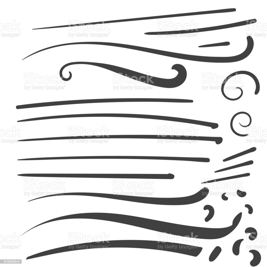 Hand Drawn Black squiggle swoosh text font tail for baseball tshirt design w a calligraphy swirl vector art illustration