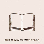 istock Hand Drawn Book Icon with Editable Stroke 1267191810