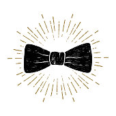 Hand drawn bow tie vector illustration.