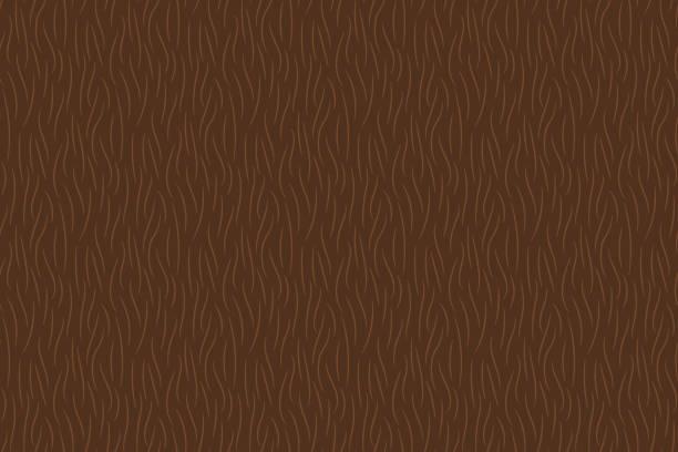 hand drawn brown animal fur texture seamless pattern - fur texture stock illustrations, clip art, cartoons, & icons