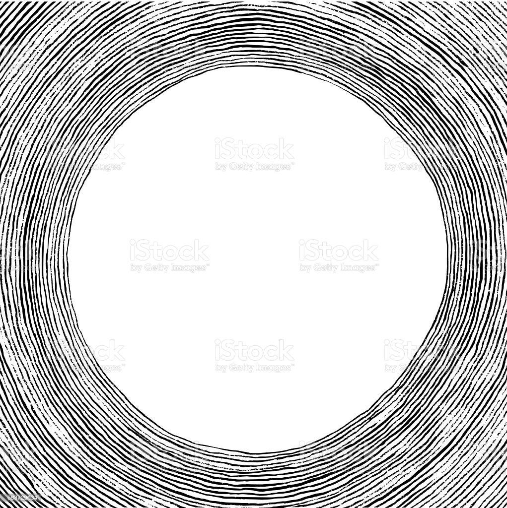 Hand drawn brush circles as text frame vector art illustration