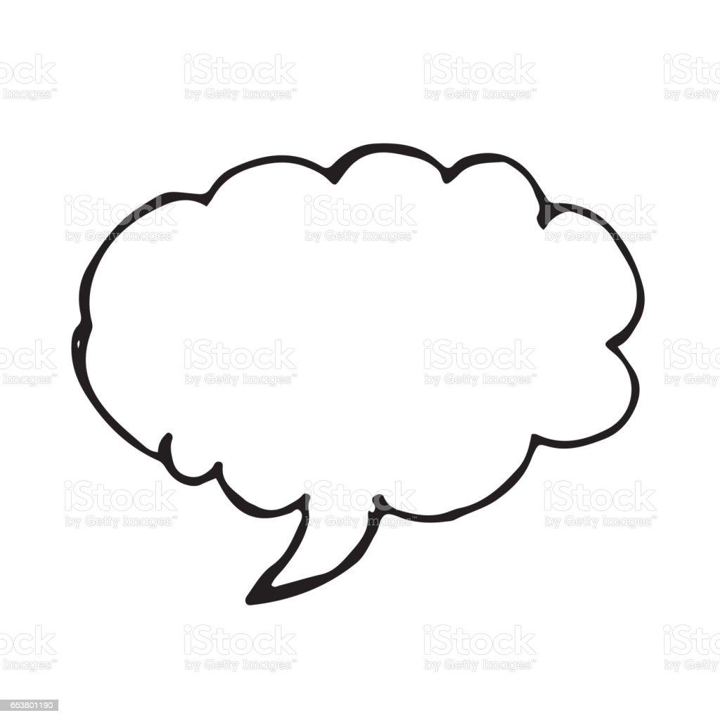 Hand Drawn Bubble Speech Illustration Symbol Design Stock Vector Art