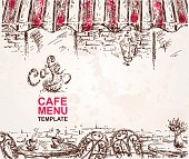 Hand Drawn Cafe Menu