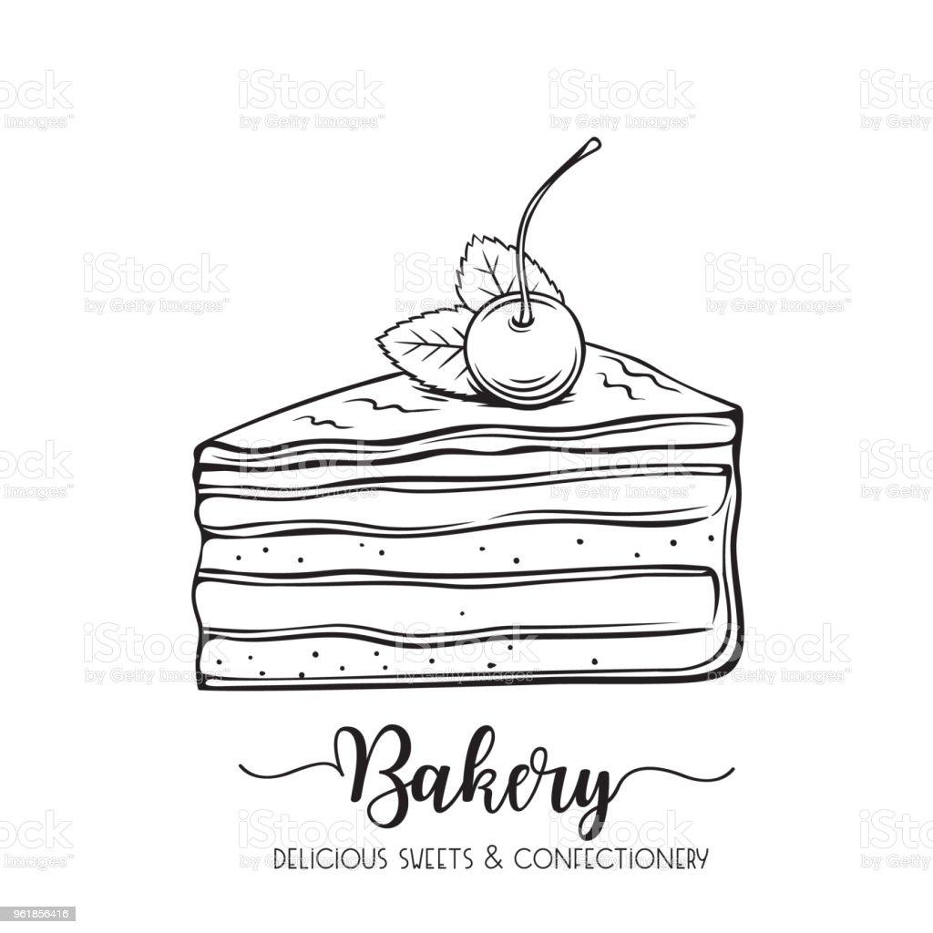 Hand Gezeichnet Kuchen Stock Vektor Art Und Mehr Bilder Von