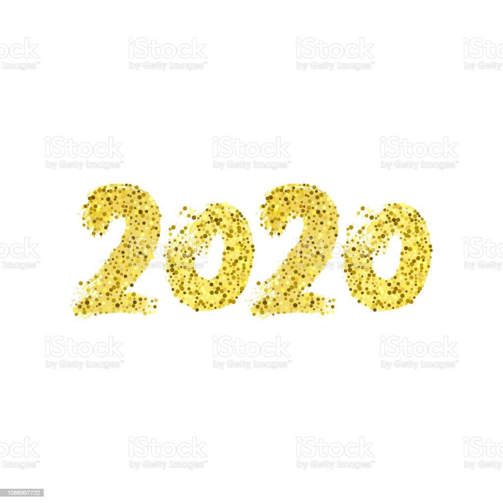 2019 Cizilen Hat Ver Mutlu Yeni Yil Karti Beyaz Bir Arka Plan