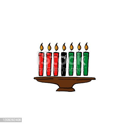 istock hand drawn candle light illustration symbol for kwanzaa celebration doodle style 1209262406