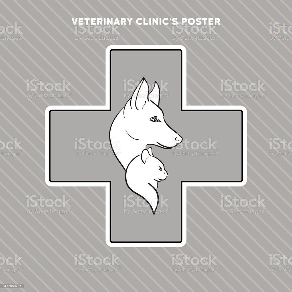 手描きの猫と犬はポスターの動物 のイラスト素材 477659796   istock
