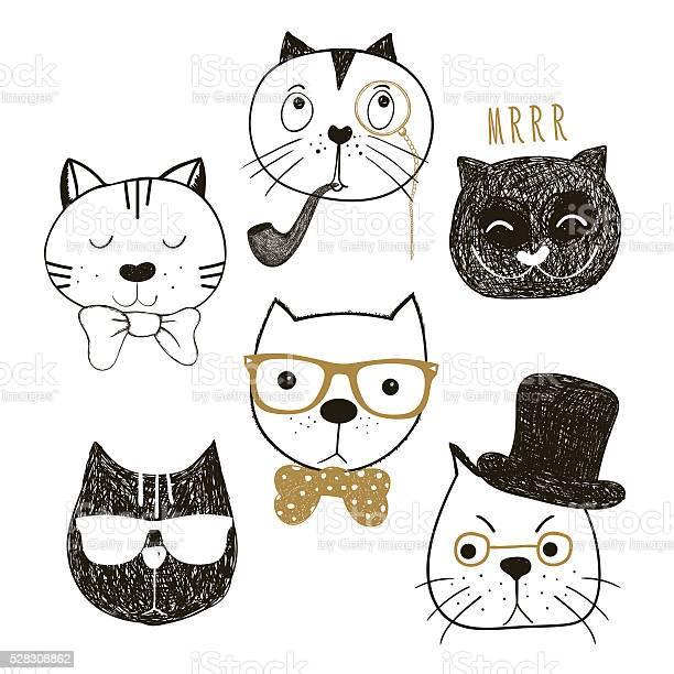 Hand drawn cats heads collection vector id528308862?b=1&k=6&m=528308862&s=612x612&h=h4h0xh kyspmevgf0ukjkegr2kftzconbcherr qila=