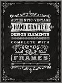 A hand drawn chalk poster template. EPS 10 file, with transparencies, layered & grouped,