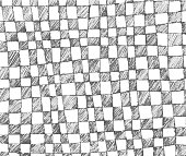Hand drawn checkered pattern